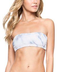 Tori Praver Swimwear Tori Praver Royale Top - Blue