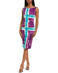 Samantha Sung Celine Sheath Dress - Purple