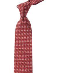 Ferragamo Red Snail Silk Tie