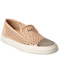 Giuseppe Zanotti - Perforated Leather Slip-on Trainer - Lyst