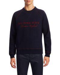 Burberry - Logo Wool Jumper - Lyst