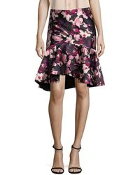 Romance Was Born Floral High-low Skirt - Multicolour
