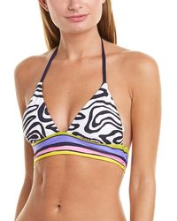 Trina Turk - Zebra Tall Bikini Top - Lyst