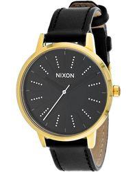Nixon Kensington Leather Watch - Black
