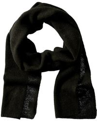 Portolano Cashmere Knitted Scarf - Black