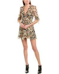 The Kooples Silk-blend Wrap Dress - Multicolour