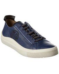 Fly London Sate Leather Sneaker - Blue