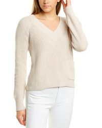 525 America Cropped Pocket Sweater - Natural