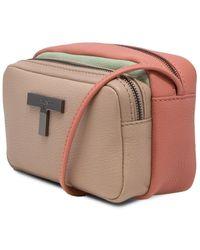 T Tahari Kaia Leather Crossbody - Multicolour