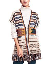 Faherty Brand Savannah Sweater Poncho - Multicolor