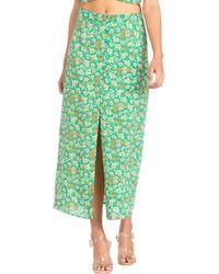 Dance & Marvel Long Skirt - Green