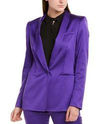 ESCADA Begasa Satin Tuxedo Jacket - Purple