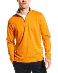 Robert Graham Triple Crown 1/4-zip - Orange