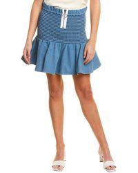 Petersyn River Mini Skirt - Blue