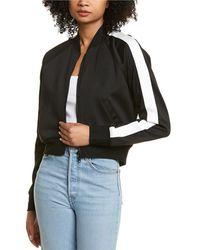 Pam & Gela Basic Cropped Track Jacket - Black