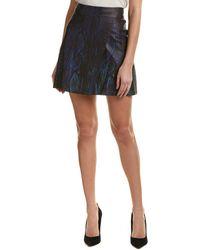 Elie Tahari Leather Skirt - Black