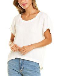Club Monaco Textured Scoop Neck T-shirt - White