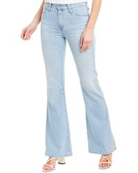 AG Jeans The Quinne 26 Years Serenity Surged High-rise Flare Leg - Blue