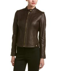 Cole Haan Leather Jacket - Green