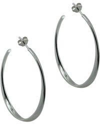 Argento Vivo Silver Medium Hoops - Metallic