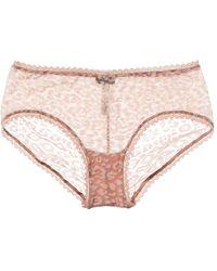 Cosabella Temptation Flock Hotpant - Pink