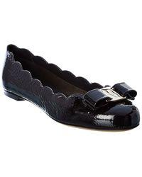 Ferragamo Varina Ballerina Shoes - Black