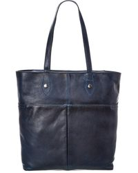 Frye Leather Tote - Blue