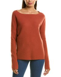 RAFFI Boatneck Cashmere Sweater - Orange