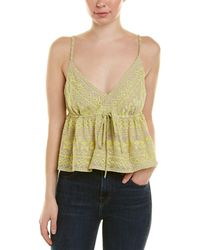 BCBGMAXAZRIA Embroidered Wool-blend Crop Top - Yellow