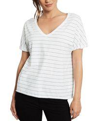 Frank & Eileen Deep V-neck T-shirt - White