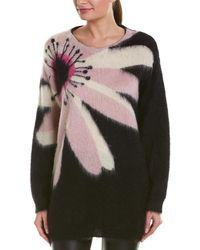 Valentino Floral Intarsia Mohair & Wool-blend Jumper - Black