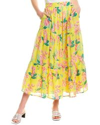 brand: Banjanan Patience Midi Skirt - Yellow