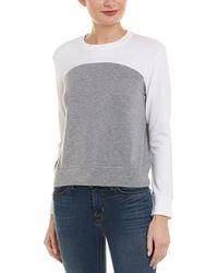 Monrow Colorblock Sweatshirt - Grey