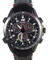 Seiko Men's Leather Watch - Multicolour