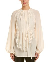 Stella McCartney Bib Silk Top - White