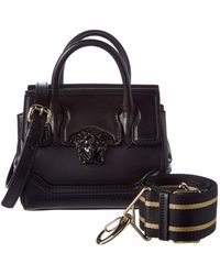 09c75e3277 Lyst - Versace Palazzo Medusa Small Leather Shoulder Bag in Black