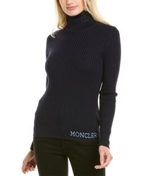 Moncler Wool Turtleneck Sweater - Blue