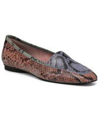 Donald J Pliner Deedee Python Leather Print Loafers - Multicolour