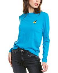 Chinti & Parker Lemon Badge Cashmere Sweater - Blue