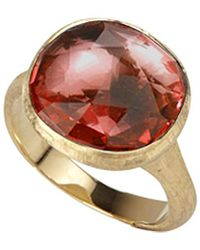 Marco Bicego Jaipur Color 18k Pink Tourmaline Ring - Multicolor