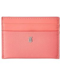 Burberry Sandon Monogram Motif Leather Card Case - Pink