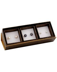Splendid 14k 8-8.5mm Freshwater Pearl Earrings Set - Black