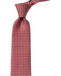 Ferragamo Giugno Birds Tie, Red