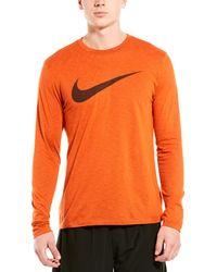 Nike Brand Logo T-shirt - Orange