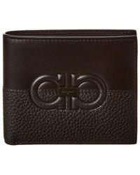 Ferragamo Leather Bifold Wallet - Black