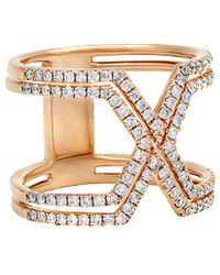 Diana M. Jewels . Fine Jewellery 14k Rose Gold 0.75 Ct. Tw. Diamond Ring - Metallic