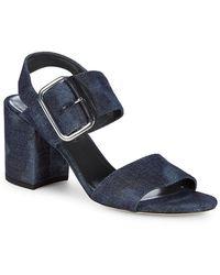 Stuart Weitzman City Denim Sandals - Blue