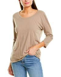 James Perse 3/4-sleeve T-shirt - Brown