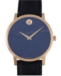 Movado Leather Watch - Blue
