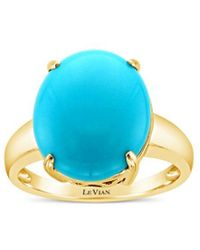 Le Vian ? 14k Honey Gold? 4.50 Ct. Tw. Diamond & Turquoise Ring - Blue